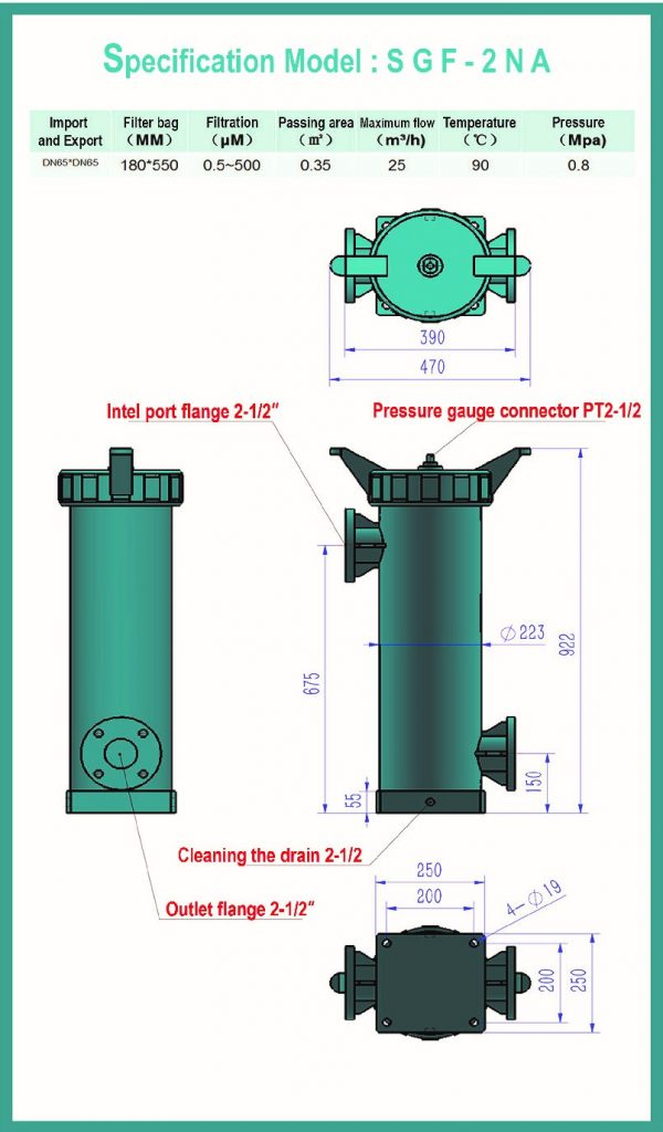 Specification Model : SGF-2NA